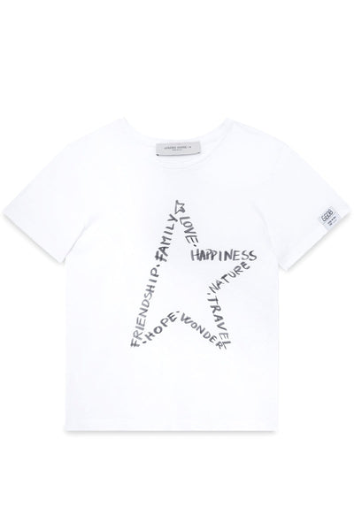 Ania T-Shirt in White/Black/Grey