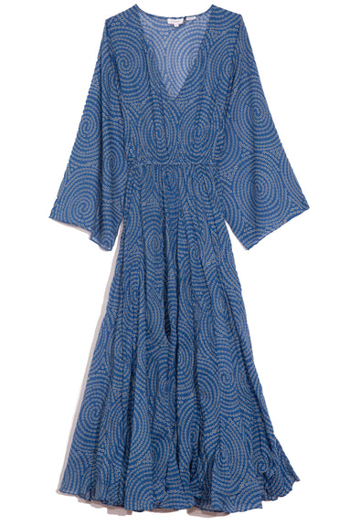 Emily Dress in Blue Trail