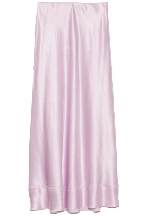 Stella Silk Satin Skirt in Lavender