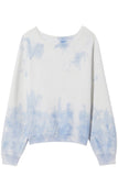 Classic Crew Neck Sweatshirt in Sky Blue Tie Dye