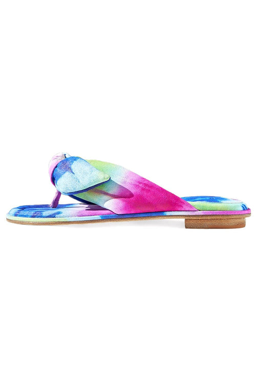 Soft Clarita Flat in Bright Tie Dye