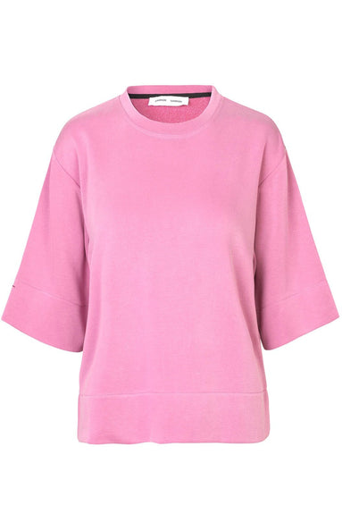 Cira Crew Neck Top in Heather Rose