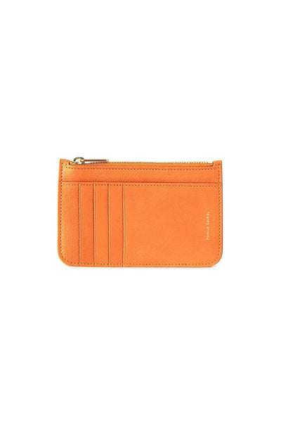 Zip Card Holder in Arancio