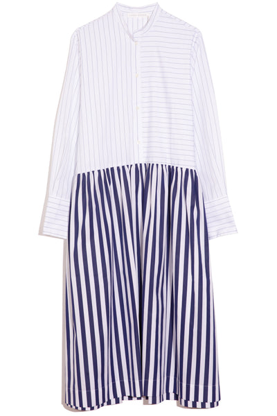 Blanche Dress in Blue Stripe