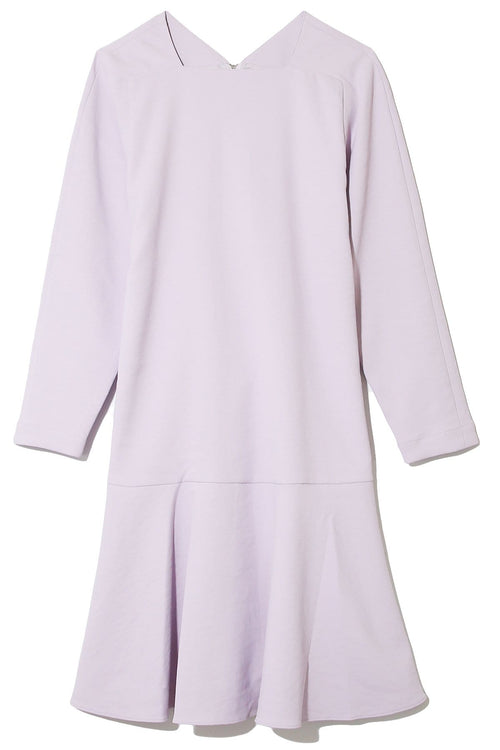 Chalky Drape Square Neck Dress in Lavender