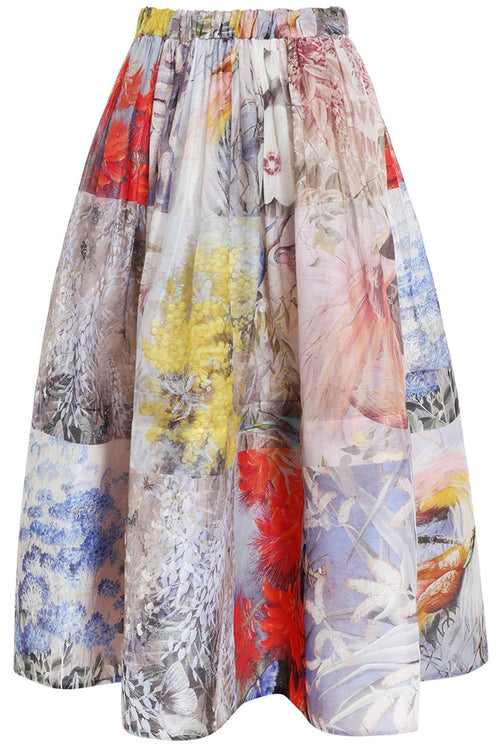 Botanica Midi Skirt in Book Print