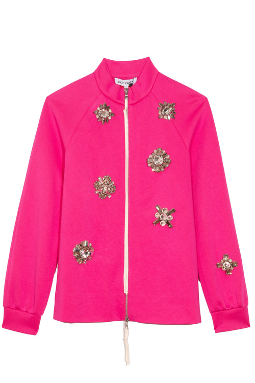 Embellished Jacket in Fuchsia