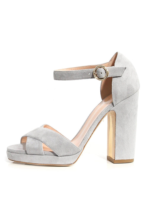 Savanna Suede Sandal in Cinder
