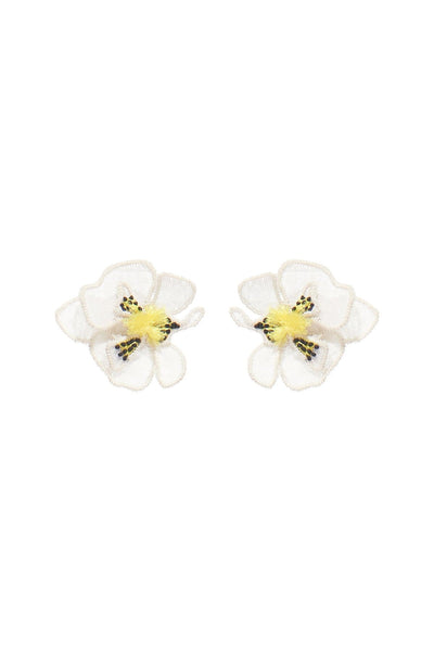 Orchid Stud Earring in White