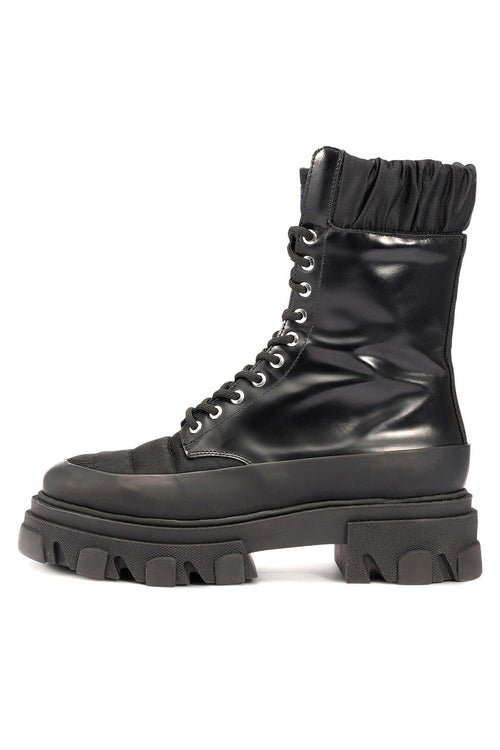 Brush Off and Nylon Combat Boot in Black