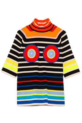 Circles and Stripes Tee in Rainbow Multi