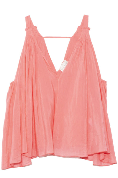 Sleeveless Cotton Silk Voile Top in Sun Kissed