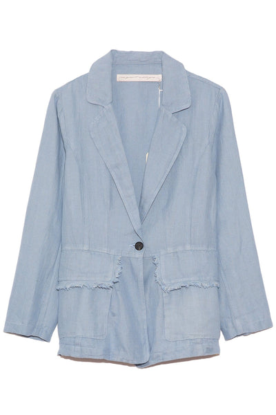 Linen Blazer in Cornflower