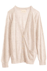 Makemo Cardigan in Light Grey Melange