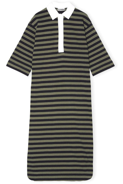 Striped Cotton Jersey Dress in Kalamata