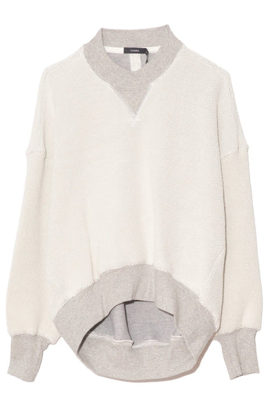 Reverse Fleece Cut Out Sweatshirt in Grey Marl