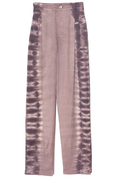 Pleated Pant in Mauve Tie Dye