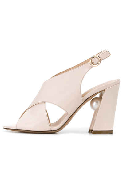 Miri Cross Sandal in Ultralight Pink