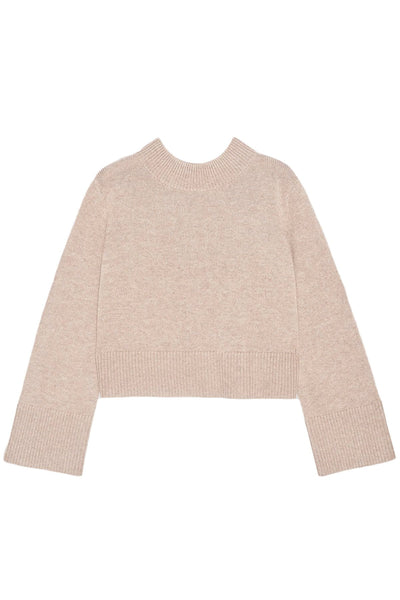 Boxy Crewneck Sweater in Taupe