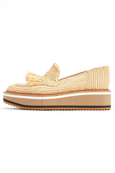 Bao Loafer in Natural Raffia