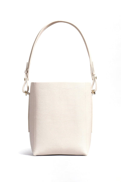 Small Bucket Bag in Sand Lizard