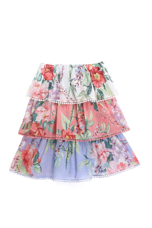 Kids Bellitude Tiered Skirt in Spliced