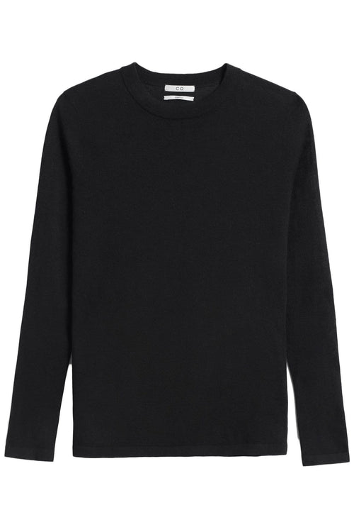 Crewneck Long Sleeve Sweater in Black
