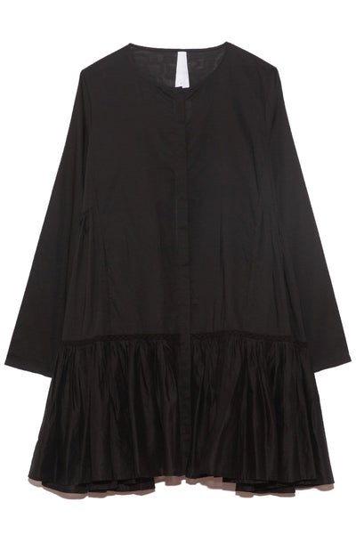 Martel Dress with Trim in Black
