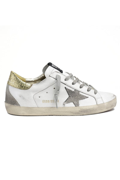 Superstar Sneaker in White/Ice/Gold