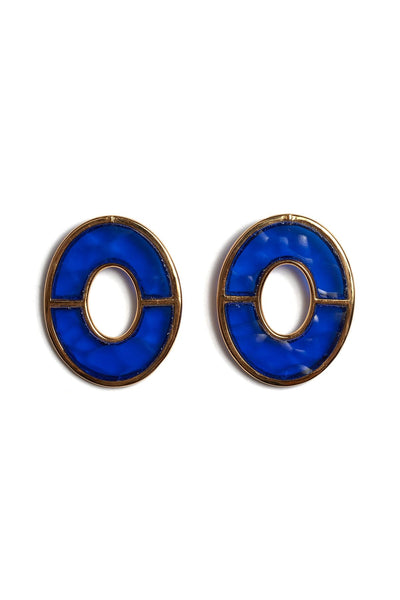 Blue City Earrings in Blue