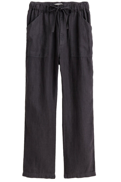 Pull On Linen Pant in Asphalt