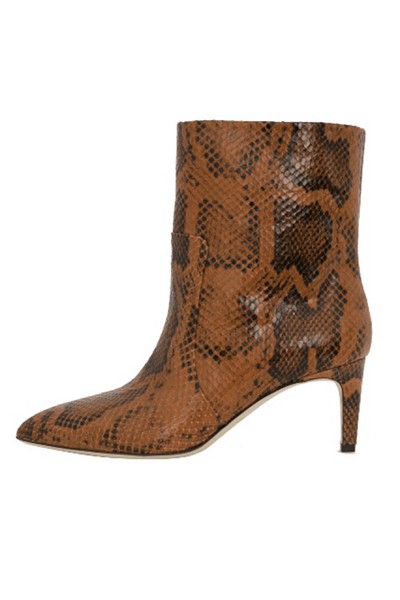Python Print Seamed Ankle Boot in Cognac