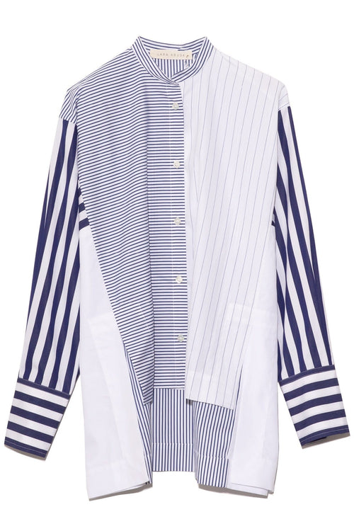 Cleo Cotton Top in Blue Stripe