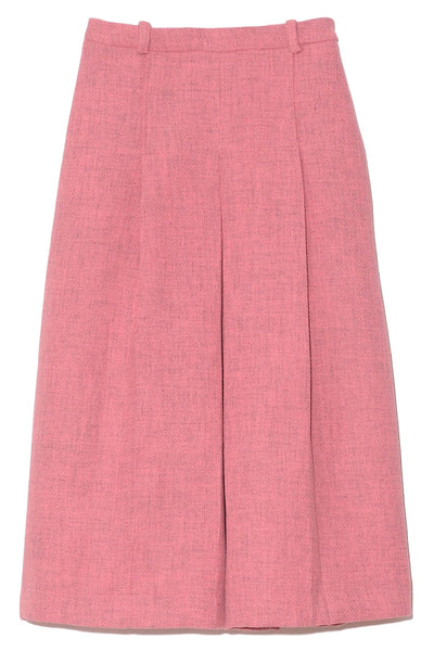 Rizzo Recycled Pleated Skirt in Carnation