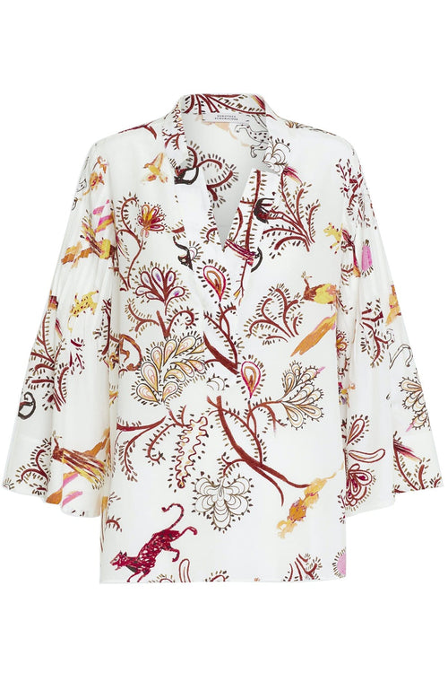 Tree of Life Blouse in Cream
