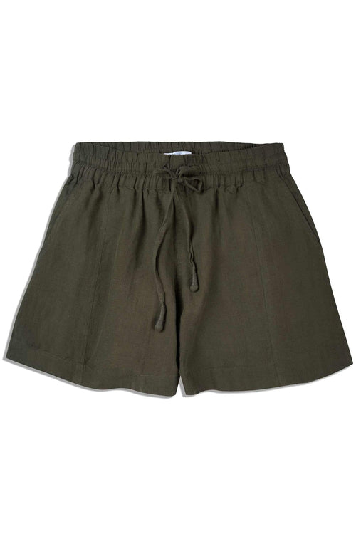 Trail Short in Olive Branch Linen