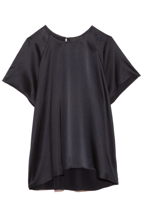 Stella Silk Raglan Tee in Midnight