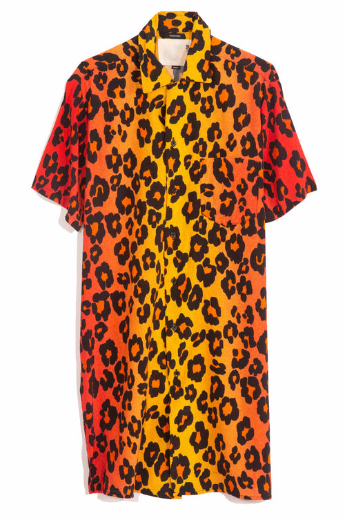 Skater Shirtdress in Ombre Leopard