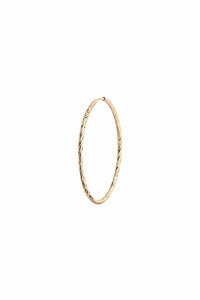 Liv Hoop 25 in Yellow Gold
