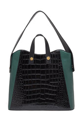 Friday Shopper Tote in Black Croc