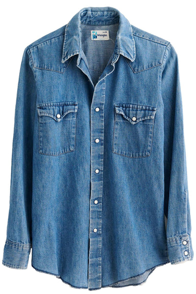 Western Vintage Wash Denim Shirt