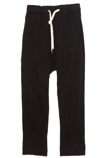 Slub Rib Relaxed Pant in Black