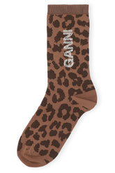 Polyamide Blend Sock in Toffee