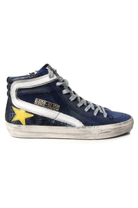 Slide Sneakers in Blue Shades/Yellow Star
