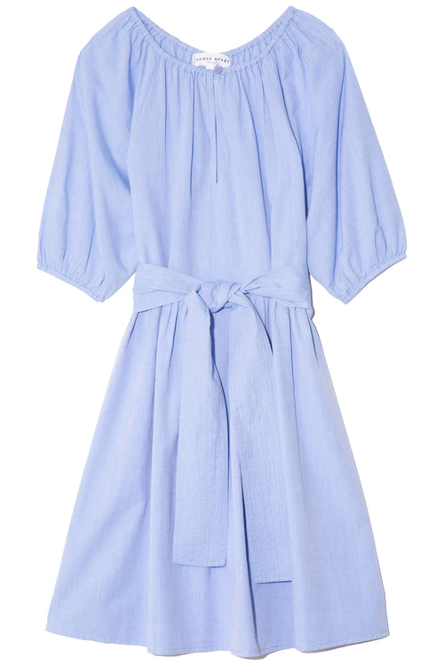 Marian Mini Dress in Chambray