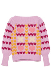 Gizela Pullover in Warm Heart Multi