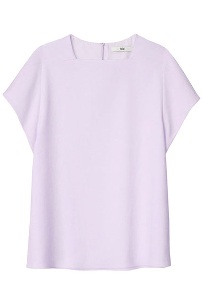 Chalky Drape Square Neck Top in Lavender