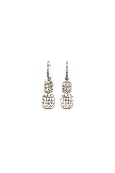 Diamond Double Tag Earrings