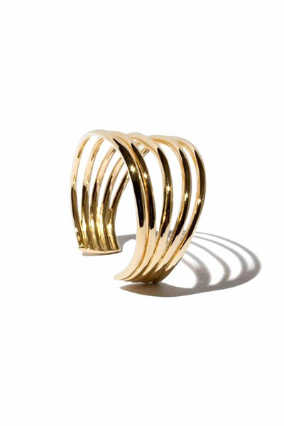 Large Simone Cuff in 14k Gold Plate