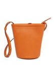 Mini Zip Bucket Bag in Arancio